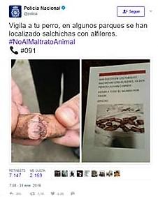 Policía Nacional twit 2