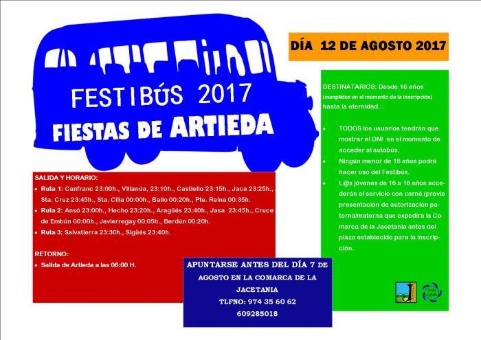 Cartel Fiestas Artieda