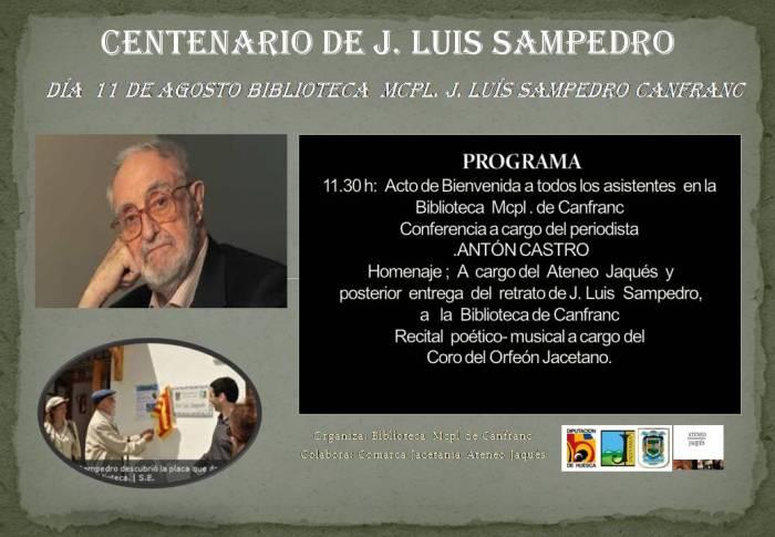 cartel centenario j.luis sampedro