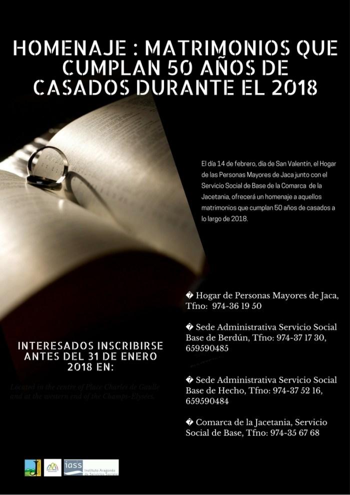 Homenaje BODAS DE ORO 2018