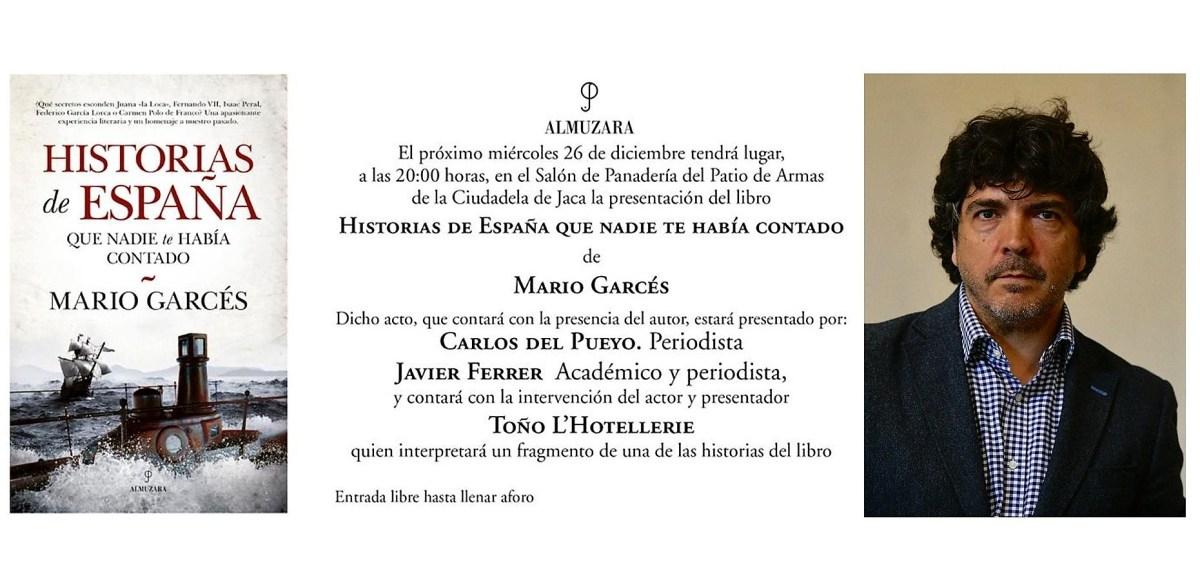 Mario Garcés presenta en la Ciudadela de Jaca su último libro