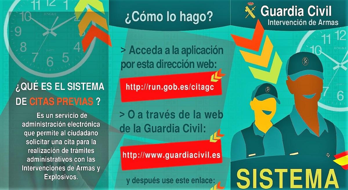 La Guardia Civil informa de los cambios en los trámites de Intervenciones de Armas y Explosivos