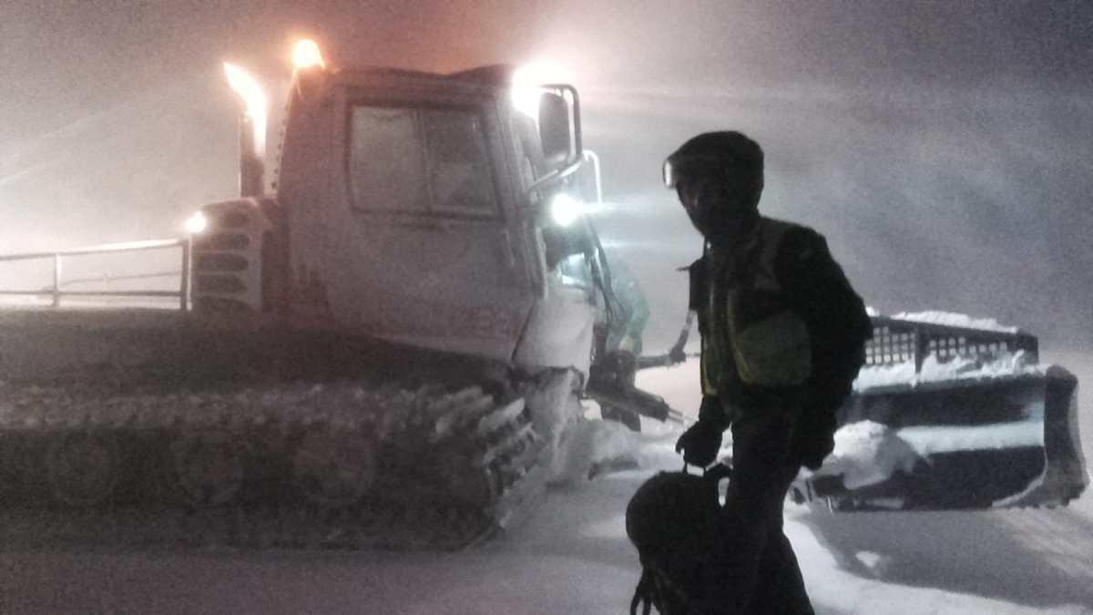 Complicado rescate de dos escaladores extraviados al descender el Aspe en las peores condiciones meteorológicas