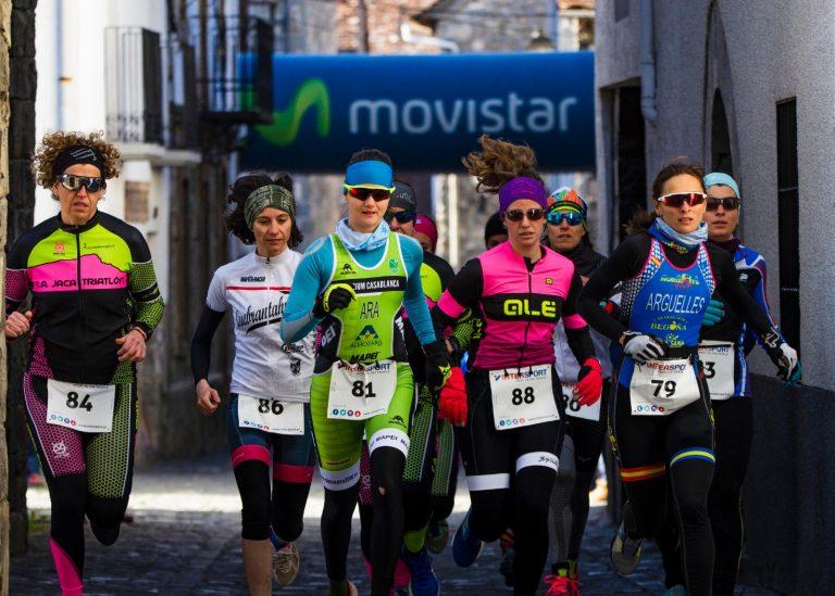 La jacetana Cristina Ara y Pello Osoro se llevan el Triatlón de Invierno Valle de Ansó