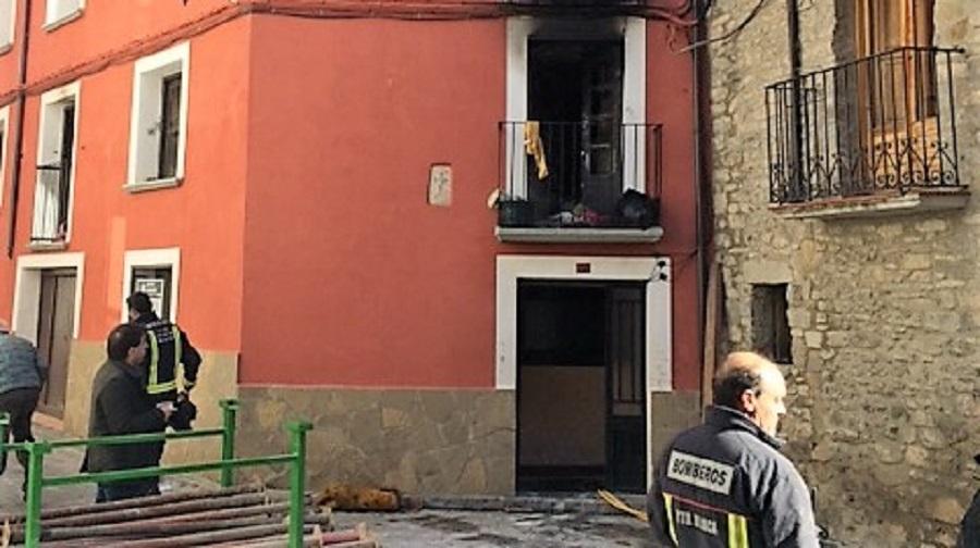 Apoyo a los heridos y afectados por el incendio de Jaca