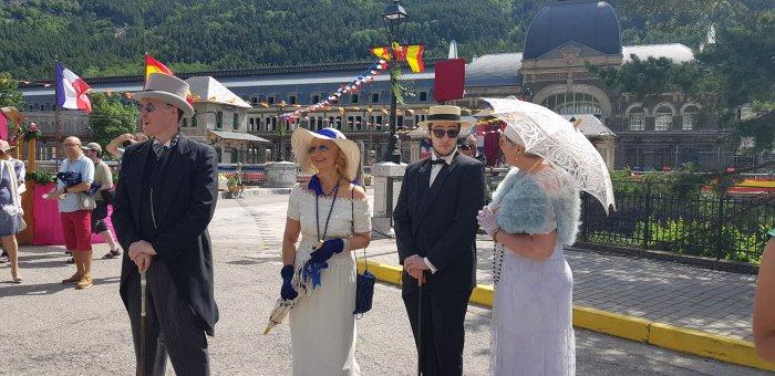 ESPLENDOR. Recreación Histórica de la Estación Internacional de Canfranc. (FOTO: Rebeca Ruiz)