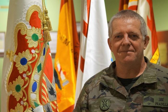 SALA HISTÓRICA. Suboficial Mayor Alfredo Pradilla. (FOTO: Rebeca Ruiz)