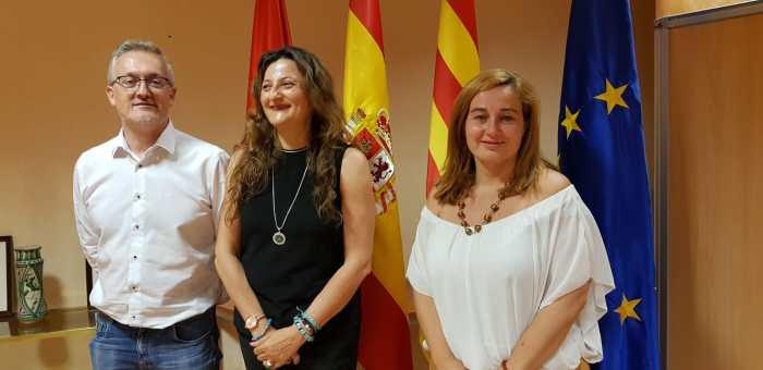 JUNTA LOCAL DE SEGURIDAD. Juan Manuel Ramón, Isabel Blasco y Olvido Moratinos. (FOTO: Rebeca Ruiz)