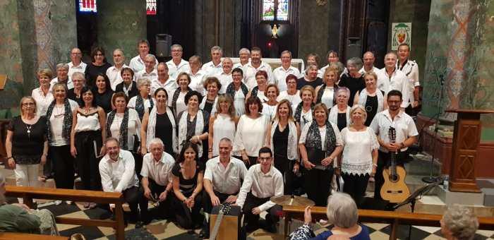 OLORÓN. Concierto del Grupo Vocal Doña Sancha y Voces de Oroel y Era Samaritana. (FOTO: Rebeca Ruiz)