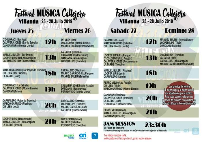 MÚSICA CALLEJERA. Festival en Villanúa.