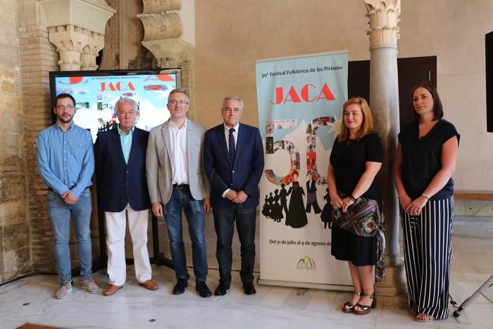 FESTIVAL FOLKLÓRICO DE LOS PIRINEOS. Presentación en Zaragoza. FOTO: Festival Folklórico de los Pirineos