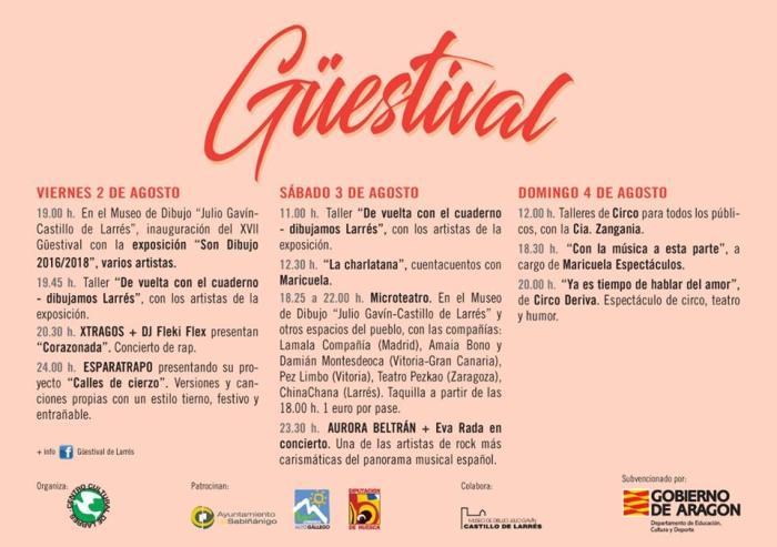 GÜESTIVAL. XVII edición en Larrés.