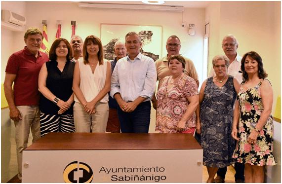 HERMANAMIENTO. Delegaciones de Petesberg y Billère en Sabiñánigo.