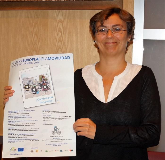 REFLEXIÓN. La concejala García Abós hace una llamada a la reflexión en la Semana de la Movilidad. (FOTO: Rebeca Ruiz)