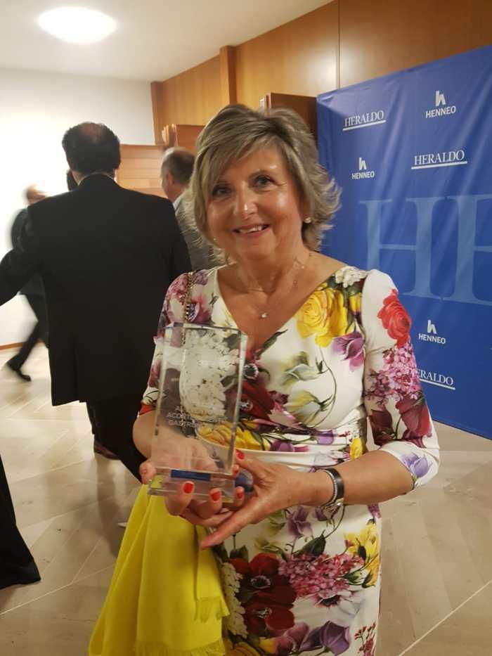 MAICA ARGUAS. Maica Arguas, durante la gala de los premios Con mucho gusto.