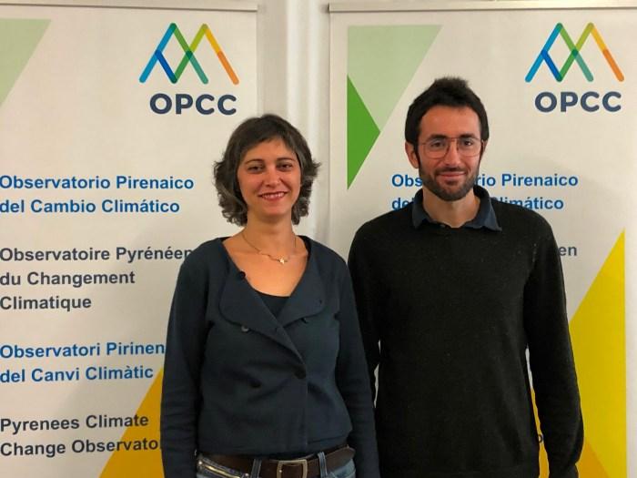 CAMBIO CLIMÁTICO. Idoia Arauzo y Juan Terrádez, durante la presentación del congreso. (FOTO: OPCC)
