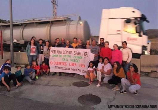 COMEDOR ESCOLAR. Una de las últimas movilizaciones en Santa Cilia. (FOTO: AMYPA Monte Cuculo)