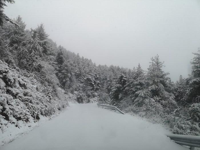GUARGUERA VIVA. La asociación denuncia y lamenta el estado de la carretera tras la última nevvada. (FOTO: Guarguera viva)