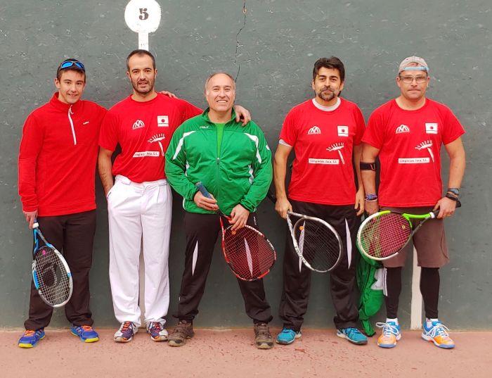 CLUB DE PELOTA JACA. Jugadores del Club de Pelota Jaca se desplazaron este fin de semana a Quinto de Ebro.