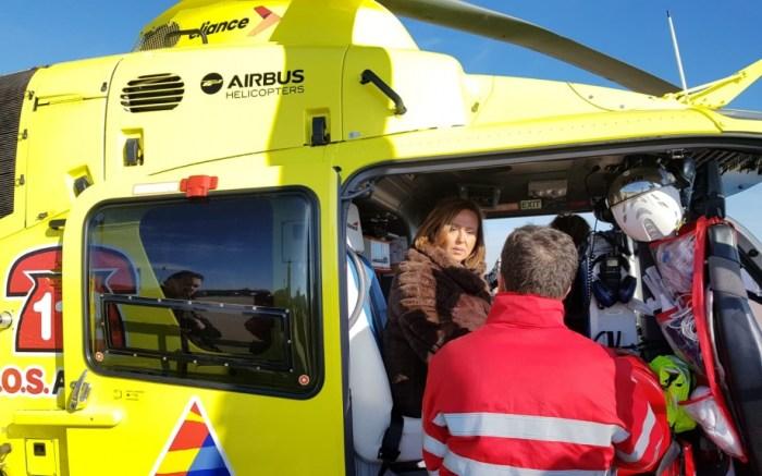 SANGRE. Presentación del nuevo servicio de los helicópteros 112. (FOTO: Gobierno de Aragón)