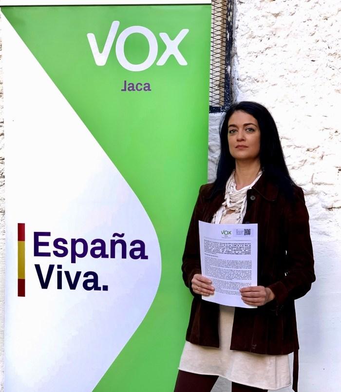 ORDENANZA. Marta Moreno (VOX Jaca)