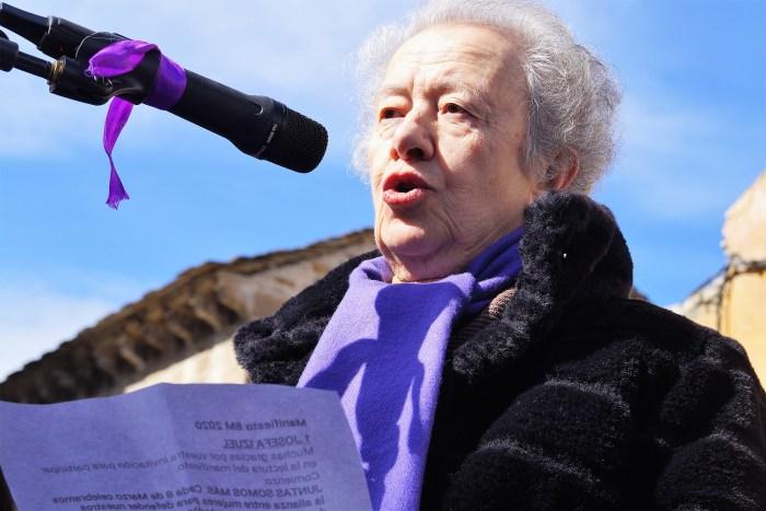 Marifí Yzuel, el pasado 8 de marzo, en Jaca. (FOTO: Rebeca Ruiz)