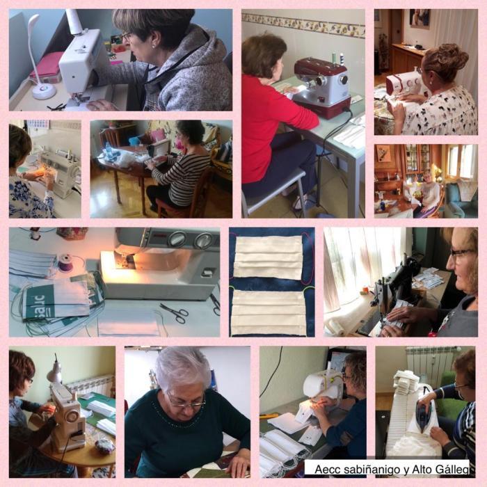AECC. Las voluntarias de la AECC forman parte de la cara más solidaria de Sabiñánigo y el Alto Gállego.