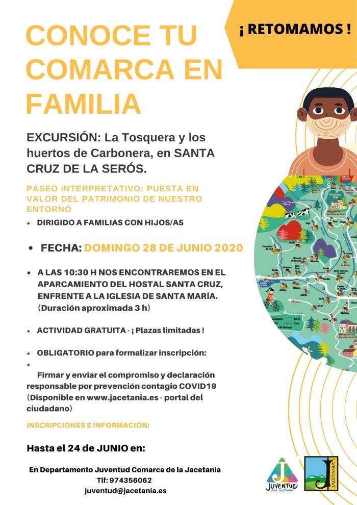 SANTA CRUZ DE LA SERÓS. Próxima salida del programa Excursiones en familia.