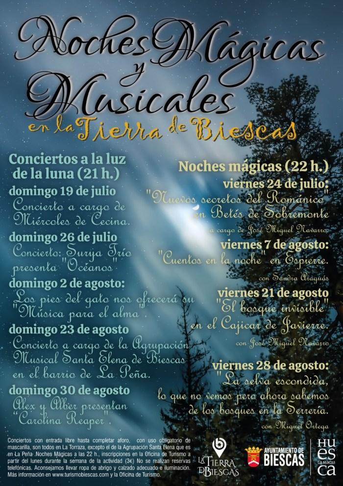 Noches mágicas y musicales en la Tierra de Biescas.