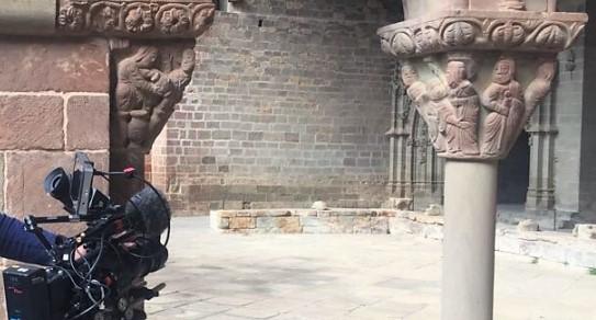 SAN JUAN DE LA PEÑA. El Monasterio ha sido escenario de distintos reportajes sobre el Santo Grial.