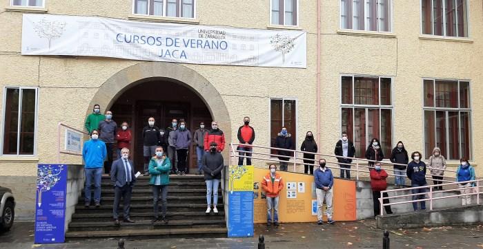 Participantes en el curso sobre tiempo y clima de la Universidad de Zaragoza.
