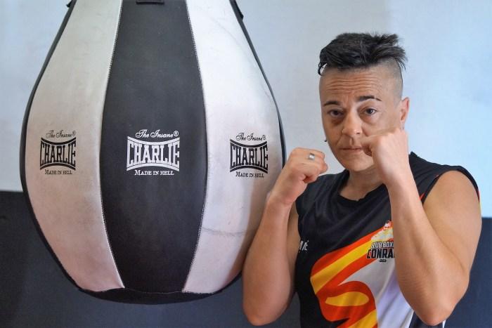 PESO PLUMA. La boxeadora de Jaca está dispuesta a darlo todo en su próximo combate en Sedaví. (FOTO: Rebeca Ruiz)