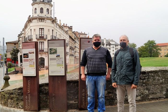 Iñaki Giménez (izda.) y Nicolás Vicente (dcha.), vocal de Tecnificación y vicepresidente de Hielo de la Federación Aragonesa de Deportes de Invierno. (FOTO: FADI)