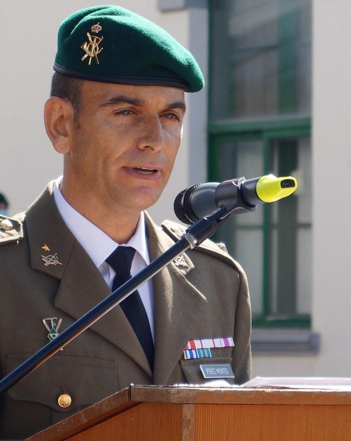BATALLÓN PIRINEOS. Relevo de Mando. Teniente coronel Pérez Montes. (FOTO: Rebeca Ruiz)