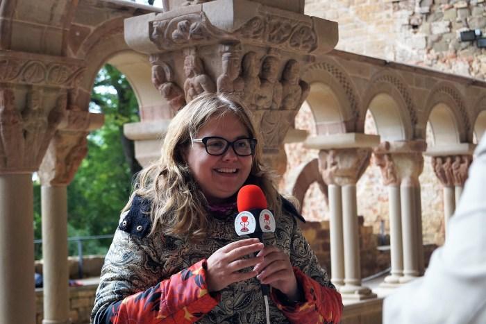 Ana Mafé, presidenta de la asociación cultural El Camino del Santo Grial. (FOTO: Rebeca Ruiz)