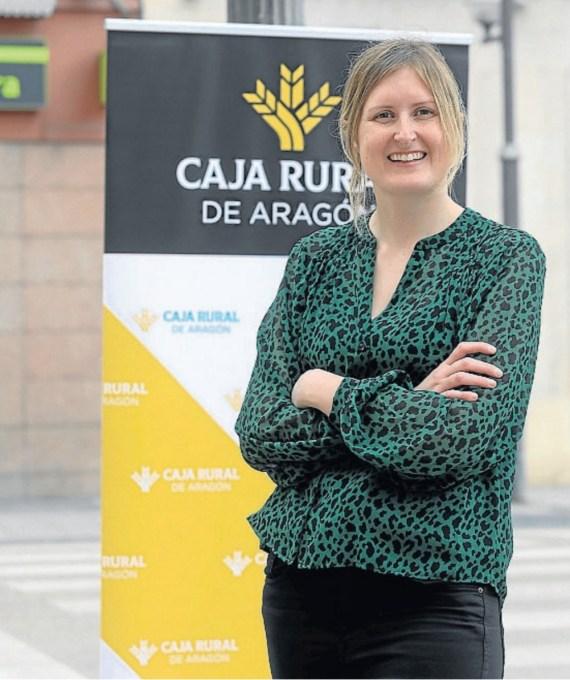 Mónica Ara, directora de Caja Rural de Aragón en Jaca.