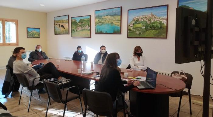 Imagen de los primeros encuentros virtuales de Pueblos Vivos. (FOTO: Comarca de la Jacetania)