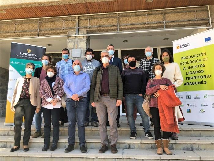 I Jornada del Grupo de Cooperación para la Producción ecológica de alimentos ligados al territorio aragonés. (FOTO: Atades-Gardeniers).