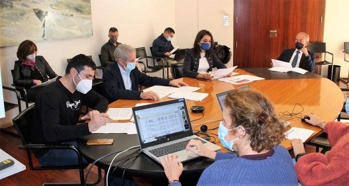 Un momento de la Comisión de Hacienda, donde el equipo de gobierno ha presentado el presupuesto para 2021. (FOTO: DPH)