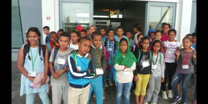Niños participantes en una edición anterior del programa Vacaciones en Paz. (FOTO: Alouda)