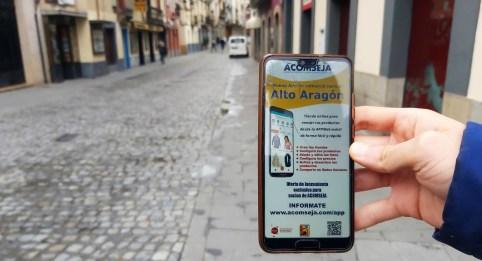 Nueva app del comercio para el Alto Aragón. (FOTO: Álex Sopeña)