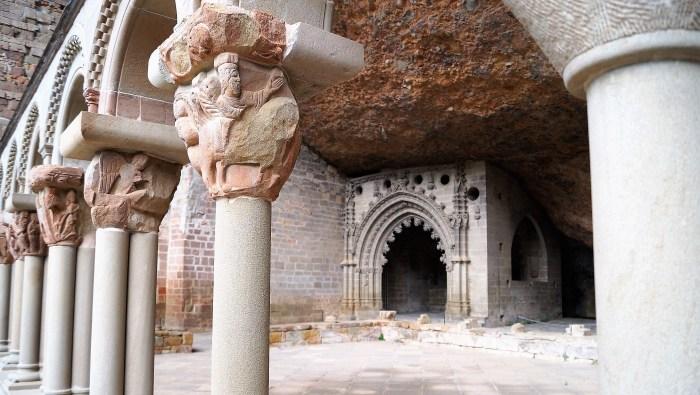 Claustro de San Juan de la Peña, donde estuvo custodiado el Santo Grial. (FOTO: Rebeca Ruiz)