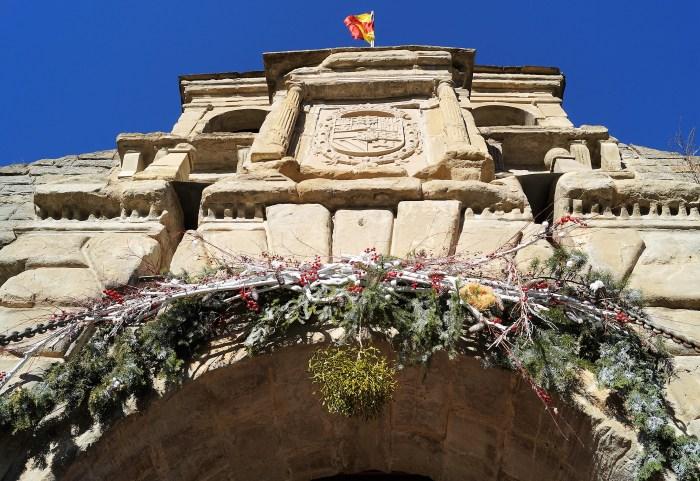 Muérdago en la entrada de la Ciudadela, para cumplir todos los deseos y terminar bien el año. (FOTO: Rebeca Ruiz)
