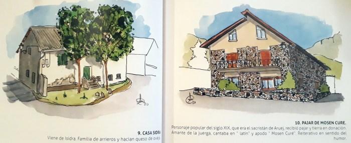El libro es un guiño a la historia de Villanúa a través de sus casas tradicionales.