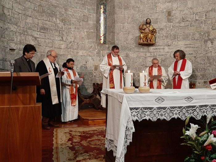 Imagen de archivo de un acto de la Semana de la Oración por los Cristianos celebrado en Biescas en 2019. (FOTO: Equipo Ecuménico de Sabiñánigo)
