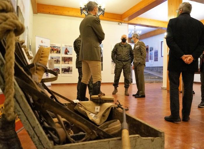 Inauguración de la nueva muestra de la Ciudadela de Jaca sobre la historia de la cría caballar en las Fuerzas Armadas. (FOTO: Rebeca Ruiz)