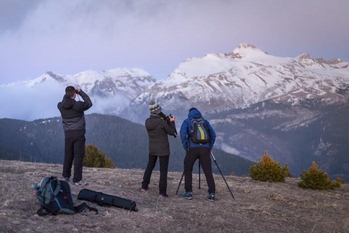 Un momento de la ruta de El Mirador del Pirineo. (FOTO: David Ruiz de Gopegui)