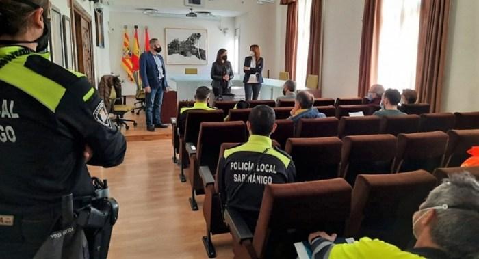 El 112 Aragón involucrará a la población de Sabiñánigo en un simulacro de emergencia química. En la imagen, de archivo, un momento del ensayo del pasado mes de marzo. (FOTO: Gobierno de Aragón)