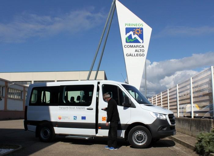Nuevo vehículo adaptado para acompañamiento y transporte social en el Alto Gállego. (FOTO: Comarca Alto Gállego)