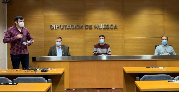 Arrés será la primera localidad de Aragón con un escape room urbano del Camino de Santiago. Presentación en la Diputación Provincial de Huesca. (FOTO: AMCS)
